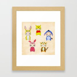 A Boy - Winnie and friends Framed Art Print