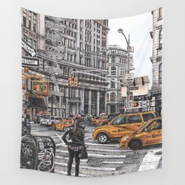 New York I Love You Wall Tapestry