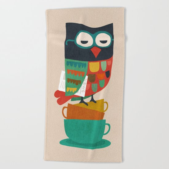 Morning Owl Beach Towel