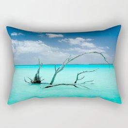 Driftwood in Lagoon Rectangular Pillow