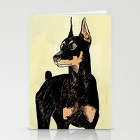 doberman Stationery Cards featuring Doberman by Cassandra Jean