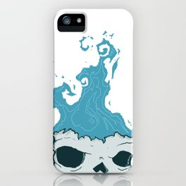 Skull on fire iPhone Case
