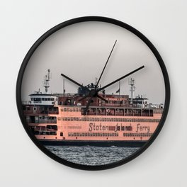 """The Boat"" , Staten Island Ferry Wall Clock"