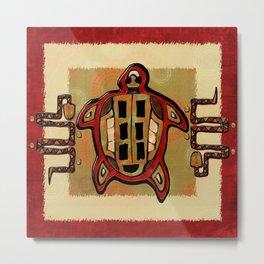 Laako'ob Uchben Mayan Folk Art Metal Print