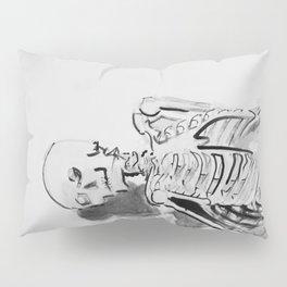 Skeletal study- Ink drawing of an actual skeleton Pillow Sham