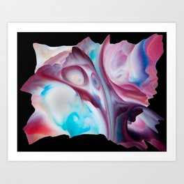 Your World 13 - Abstract 3D Milk Painting Art Print