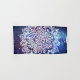 Boho Mandala - White on Galaxy Hand & Bath Towel