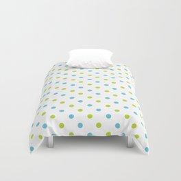 Fun Dots blue green Duvet Cover