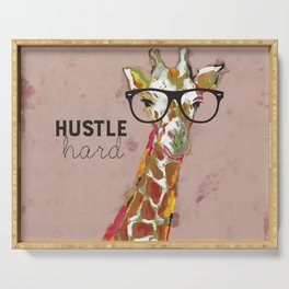 Hustle Hard Giraffe Serving Tray