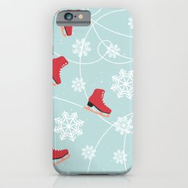 Winter Ice Skating iPhone Case