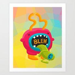 Bleh Art Print
