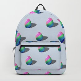 Easter egg pattern made, Happy Easter, Minimal Easter Backpack