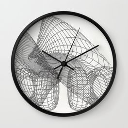 Four Good Friends and Two Good Drinks Wall Clock