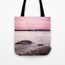 Purple Waves Tote Bag