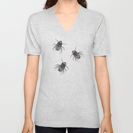 Flies Unisex V-Neck