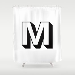 Letter M ... As Easy As ... Shower Curtain