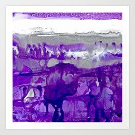 Winter in Purple and Silver Art Print