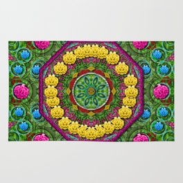 Bohemian chic in fantasy style Rug