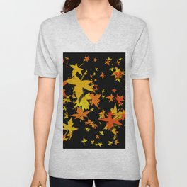 Fall Leaves Unisex V-Neck