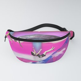 Pink Space Alien Abduction Fanny Pack