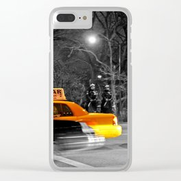 NYC Yellow Cabs Oscar Night - USA Clear iPhone Case