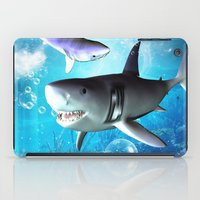 shark iPad Cases featuring Shark by nicky2342