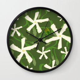 Jasmines & Junebugs Wall Clock