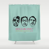 boys Shower Curtains featuring Boys, Boys, Boys by la belette rose