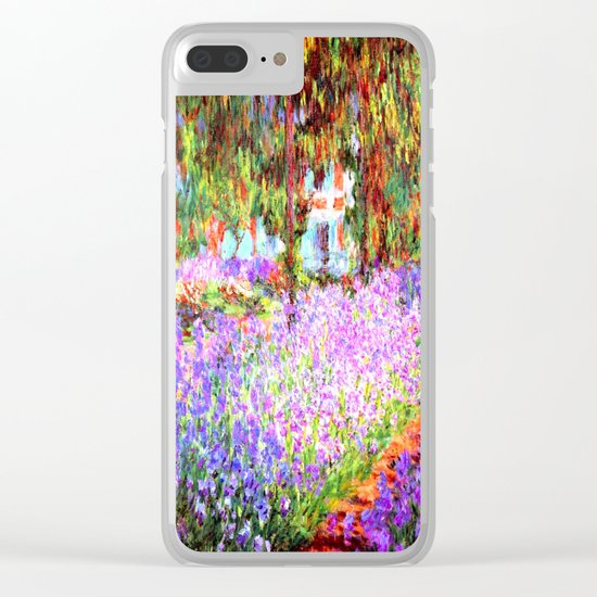 Monets Garden in Giverny Clear iPhone Case