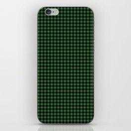 Mini Black and Dark Green Cowboy Buffalo Check iPhone Skin
