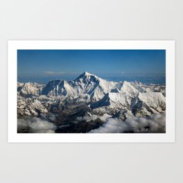 Mount Everest and the Snowy Himalayas, China–Nepal border Art Print
