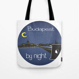 Budapest By Night, circle Tote Bag