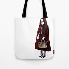 Little Blood Red Riding Hood Tote Bag