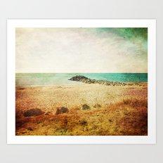 Beach in southern France - summer memories Art Print