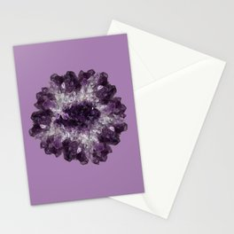 Amethyst Asteroid Stationery Cards