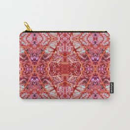 114- Large red and purple pattern Carry-All Pouch