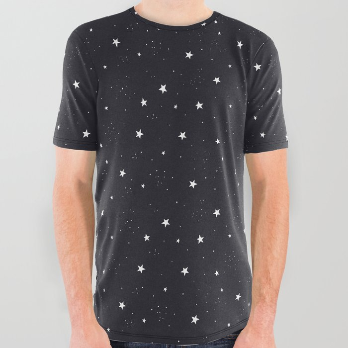 stars pattern All Over Graphic Tee