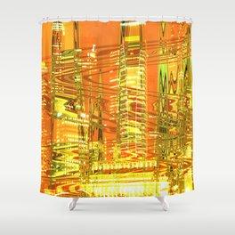 A waved skyscraper Shower Curtain