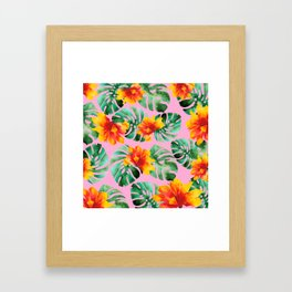 Tropical Monstera Bloom Framed Art Print