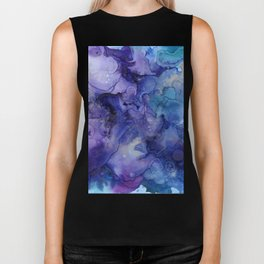 Abstract Watercolor and Ink Biker Tank