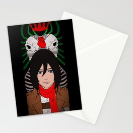 Shingeki no Kyojin - Mikasa card Stationery Cards