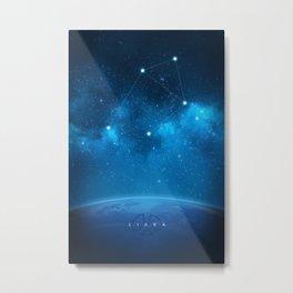 Libra: Astrological Art Metal Print