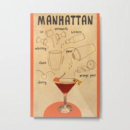 HOW TO: MANHATTAN  Metal Print