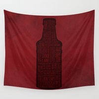 blood Wall Tapestries featuring True Blood by Luke Eckstein