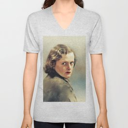 Daphne Du Maurier, Literary Legend Unisex V-Neck