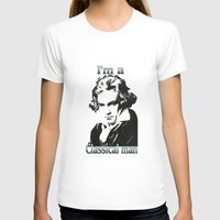 beethoven T-shirts featuring Beethoven by Stitched up designs