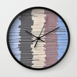 Shreds of Color 4 Wall Clock