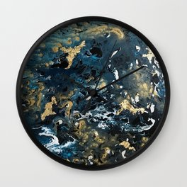 Round Outer Space Planet Earth Wall Clock