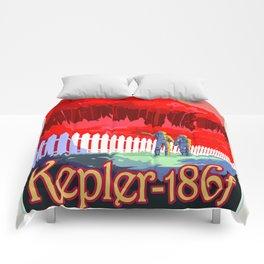 Kepler-186f - NASA Space Travel Poster (Alt) Comforters