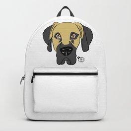 Faun Great Dane Face Backpack